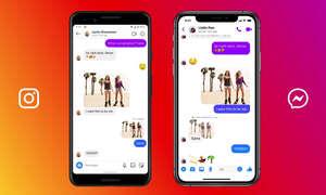 Instagram und Facebook Messenger