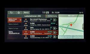 Kia e-Niro Spirit: Navigation - Screenshot Ladestationen