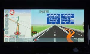 Kia e-Niro Spirit: Navigation - Screenshot Abfahrtsansicht