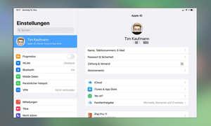 iPad einrichten: iCloud-Einstellungen