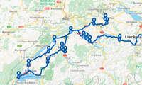 Ladenetztest DACH-Gebiet: Testroute Schweiz