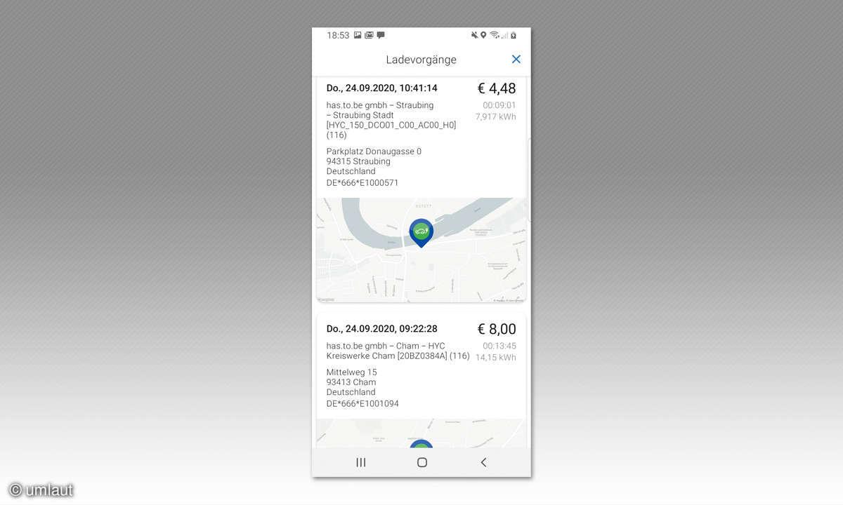 Ladenetztest DE Screenshot EMP Maingau