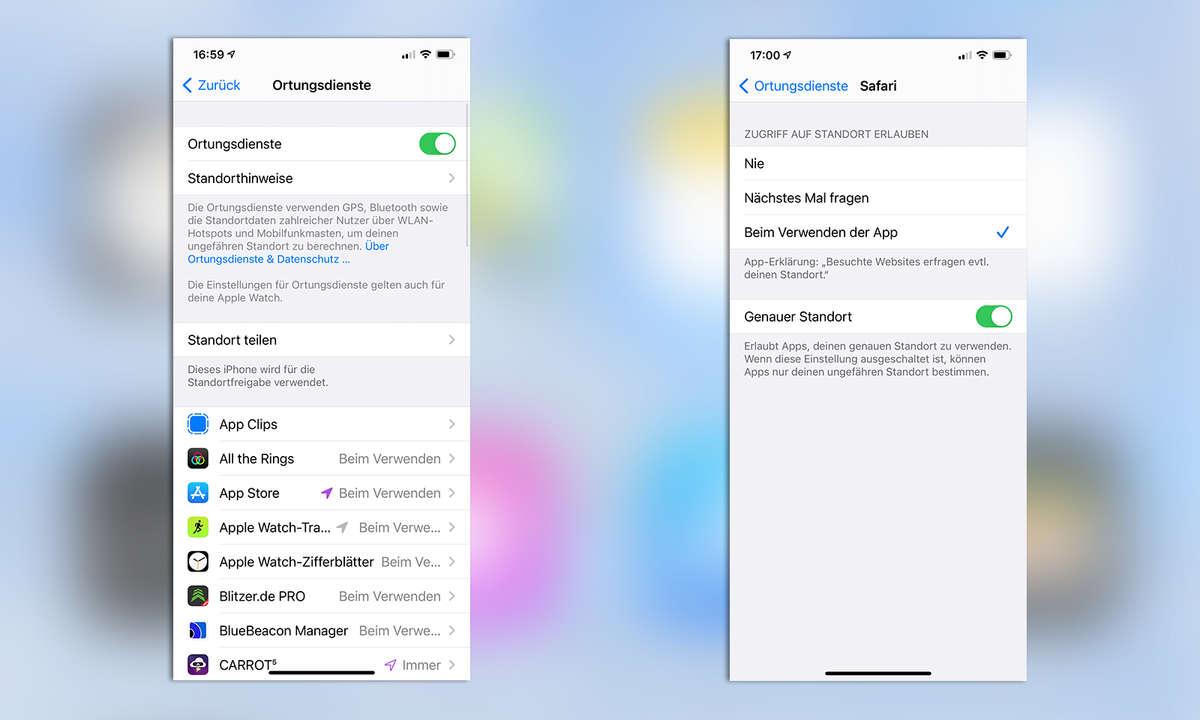iOS Sicherheit: Standortzugriff nur einmal pro App