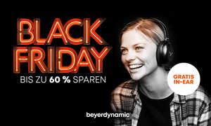 reisersparnis beim Black Friday/ Cyber Monday Sale von beyerdynamic