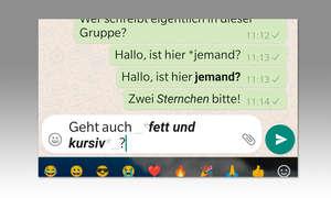 Tipp 3: Texte formatieren in WhatsApp