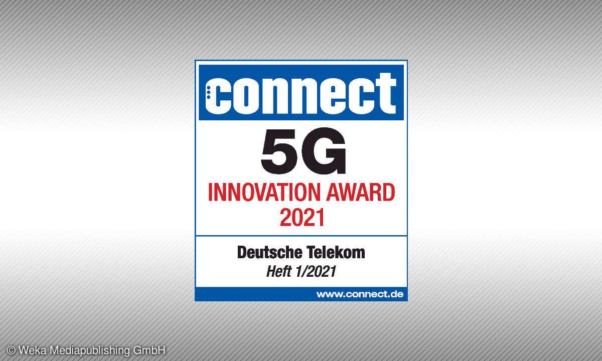 Testsiegel - 5G Innovation Award 2021 für die
