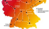 Mobilfunk-Netztest 2021 Deutschland Karte (Mitte-Süden)
