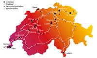 Mobilfunk-Netztest 2021 Schweiz Karte