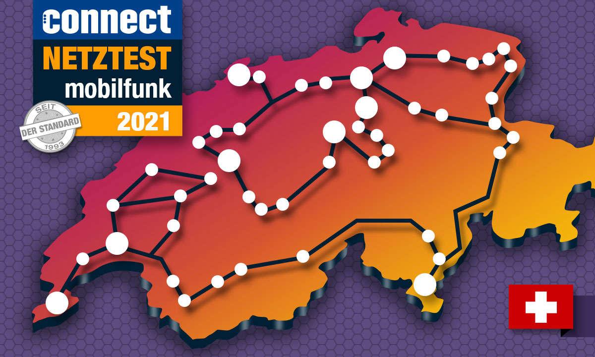 Mobilfunk-Netztest 2021: Die Handy-Netze der Schweiz im Vergleich