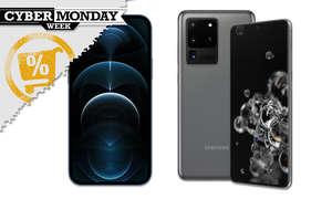 iPhone 12 Pro und Galaxy S20 Ultra am Cyber Monday