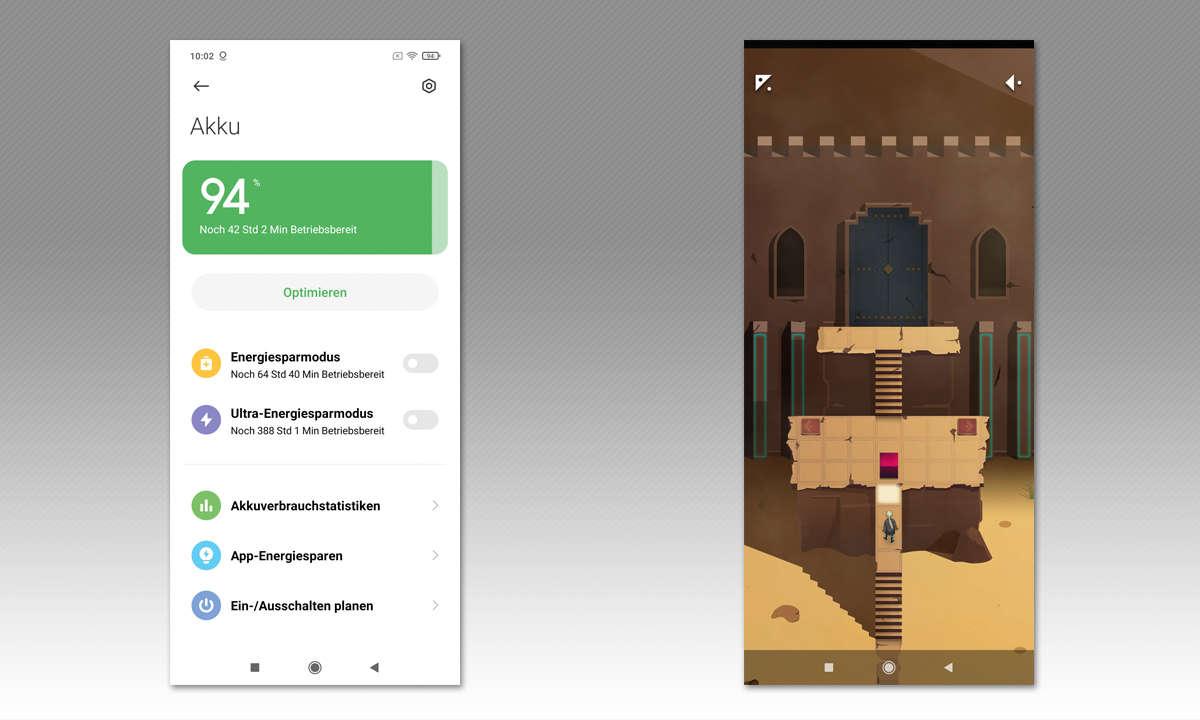 Xiaomi Poco X3 NFC im Test - Screenshots Akku u. Medien