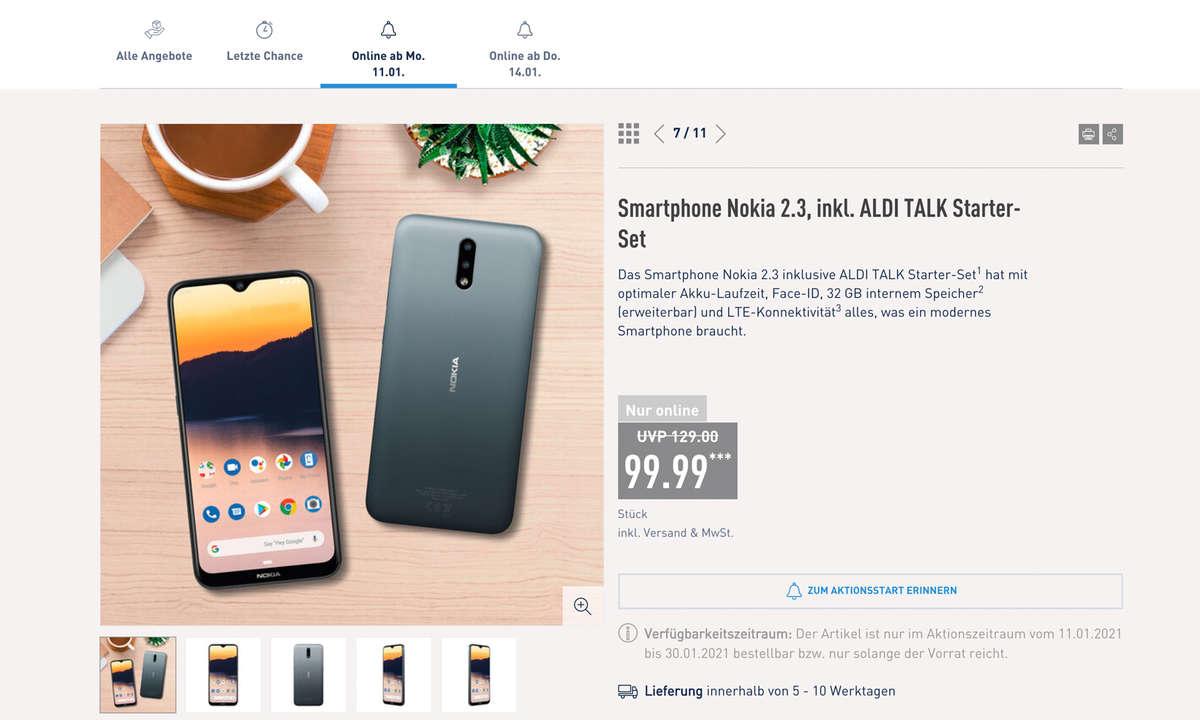 Nokia 2.3 bei Aldi Nord