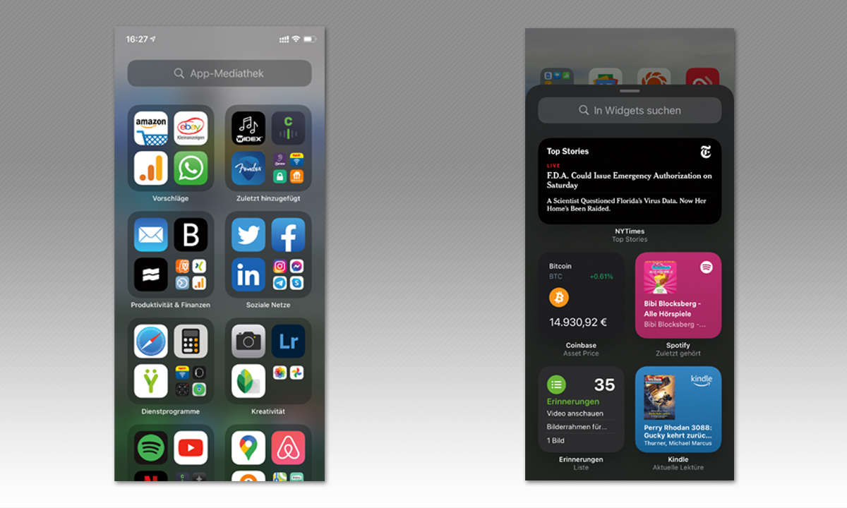 iPhone 12 Pro Max und iPhone 12 Mini im Test - Screenshots