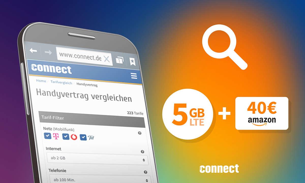 LTE-Tarif mit 5 GB und 40 Euro Amazon-Gutschein