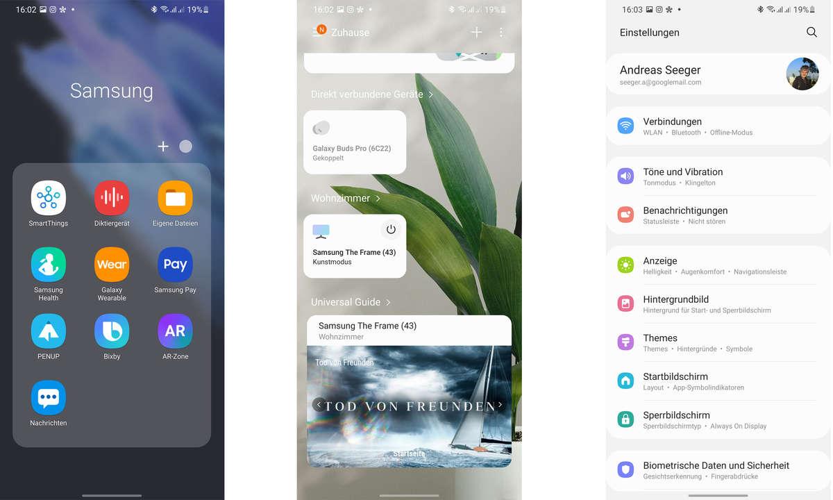 Galaxy S21 Ultra: Screenshots One UI 3.1