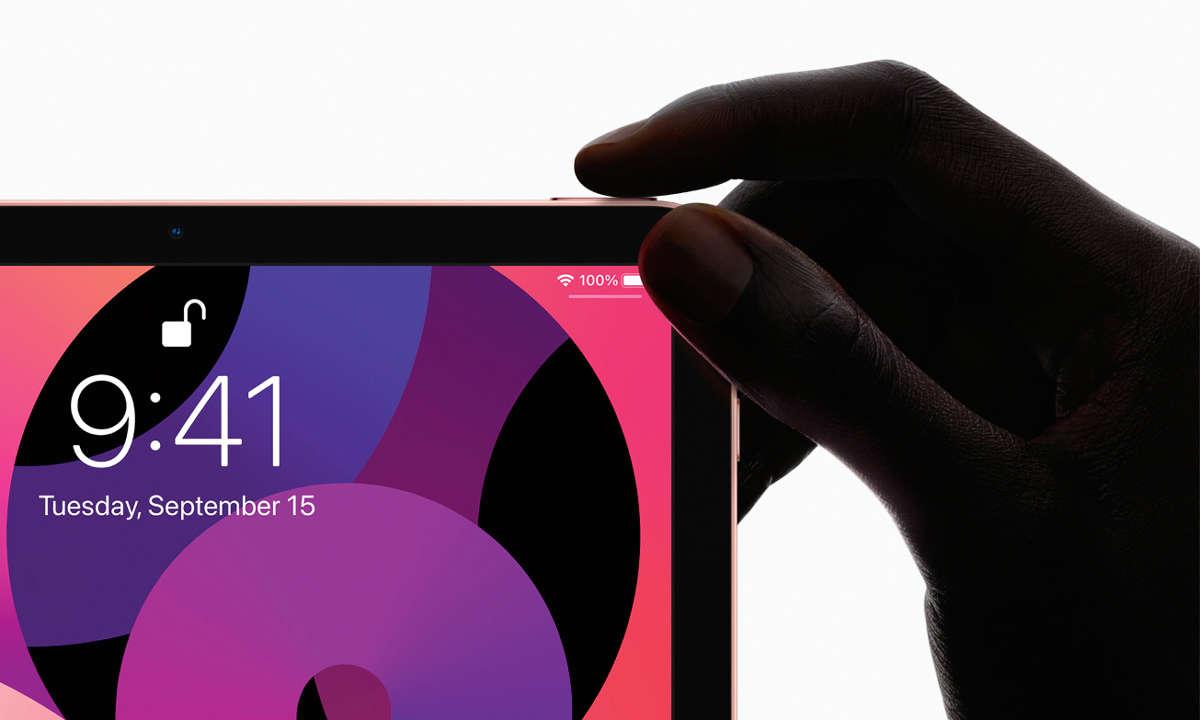 Apple iPad Air 2020 im Test - Einschalter mit Fingerabdrucksensor