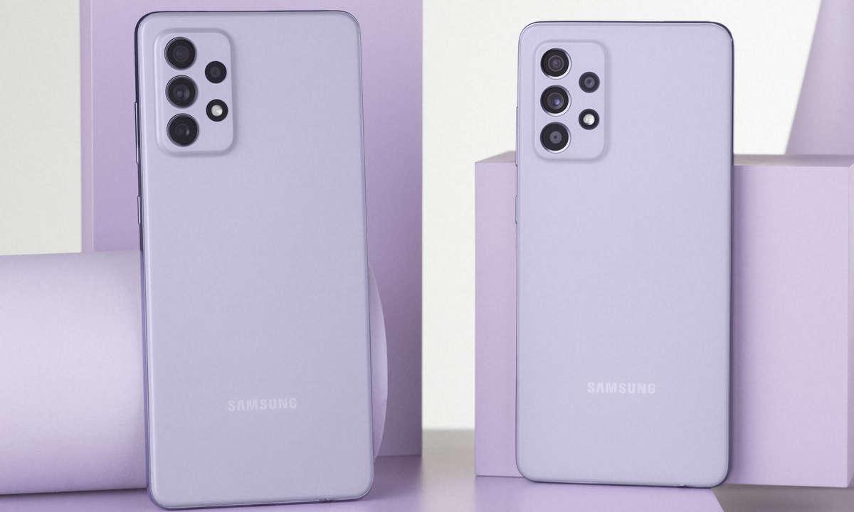 Samsung Galaxy A72 und A52