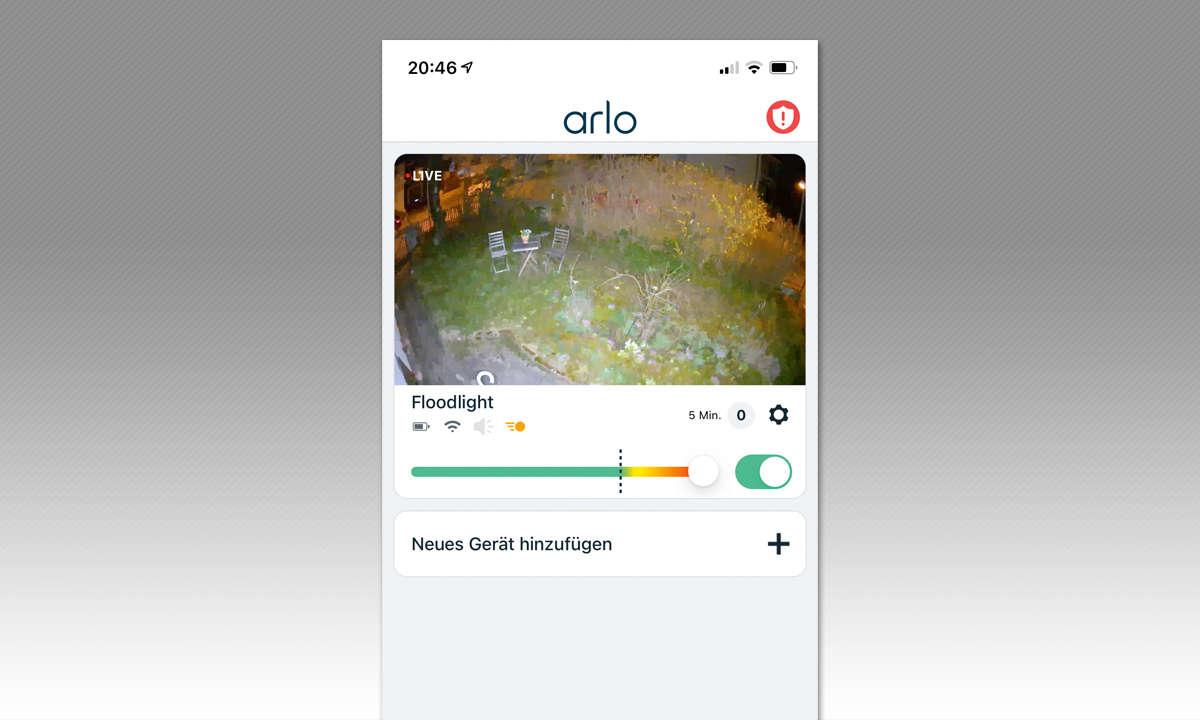Arlo Pro 3 Floodlight - Screenshot