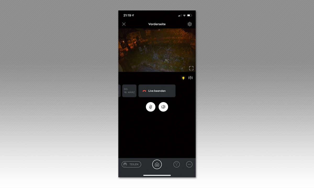 Ring Spotlight Cam Battery im Test - Screenshot