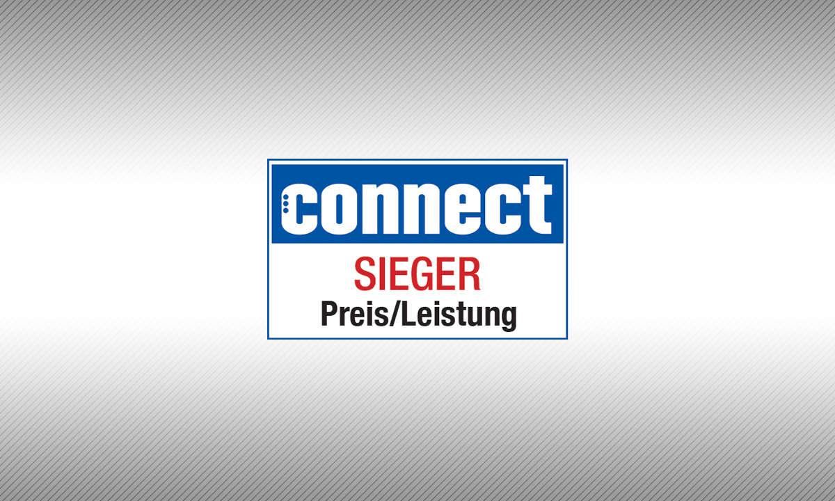 Testsiegel connect Sieger Preis/Leistung