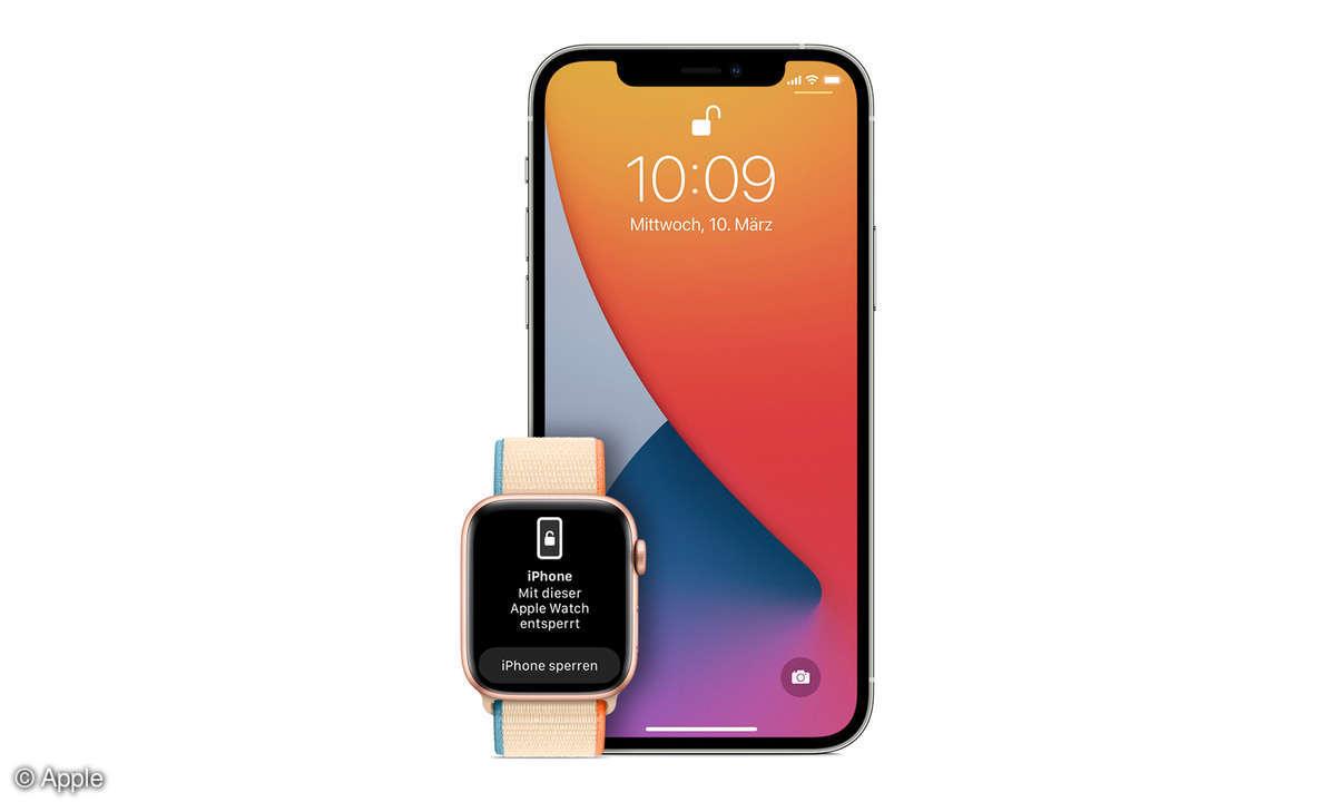 iPhone mit der Apple Watch entsperren