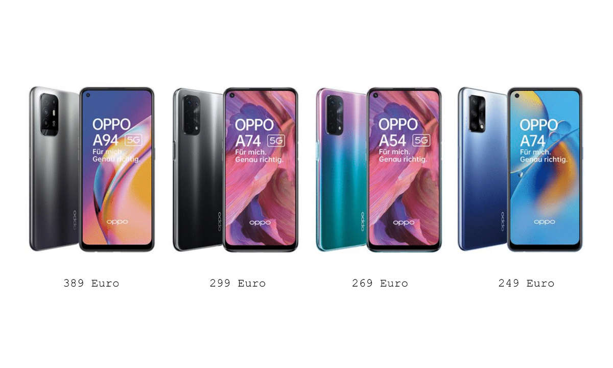 Von A54 bis A94: Oppos A-Serie 2021