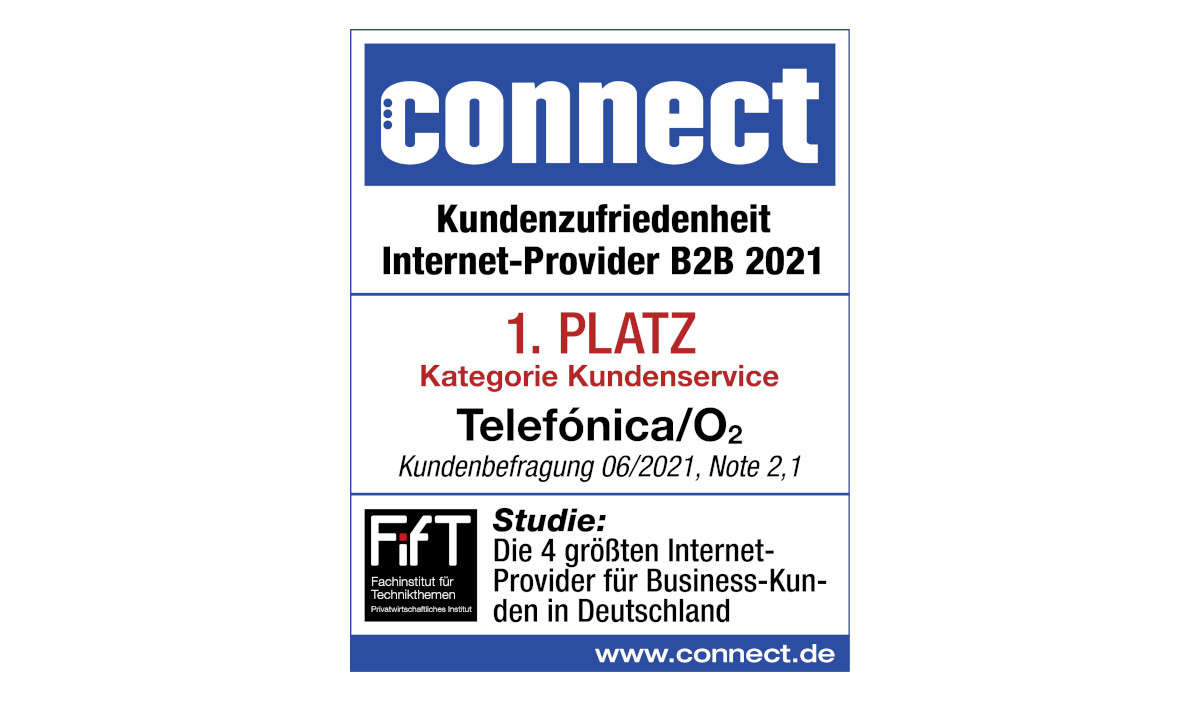 Siegel Kategorie Kundenservice, Kundenbarometer Internet B2B 2021