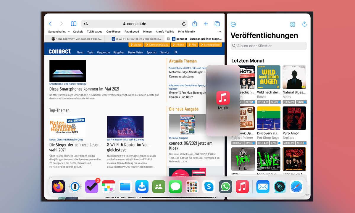 Multitasking iPadOS 14: Slide Over in Split View öffnen