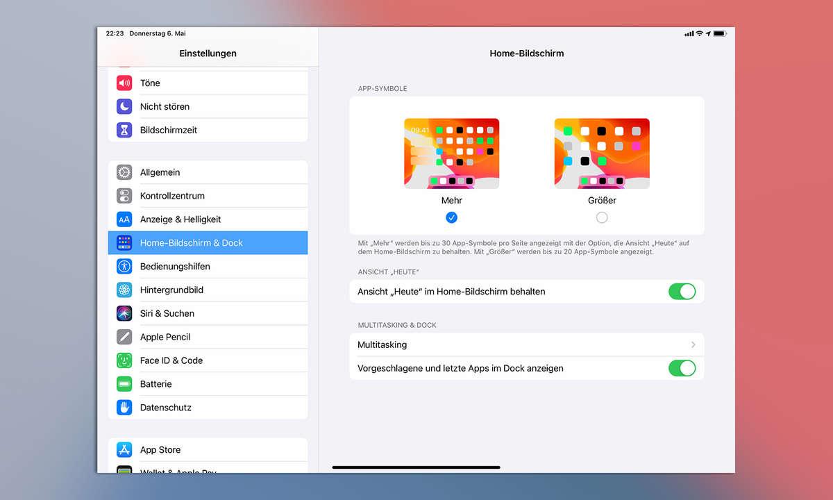Multitasking iPadOS 14: Einstellungen