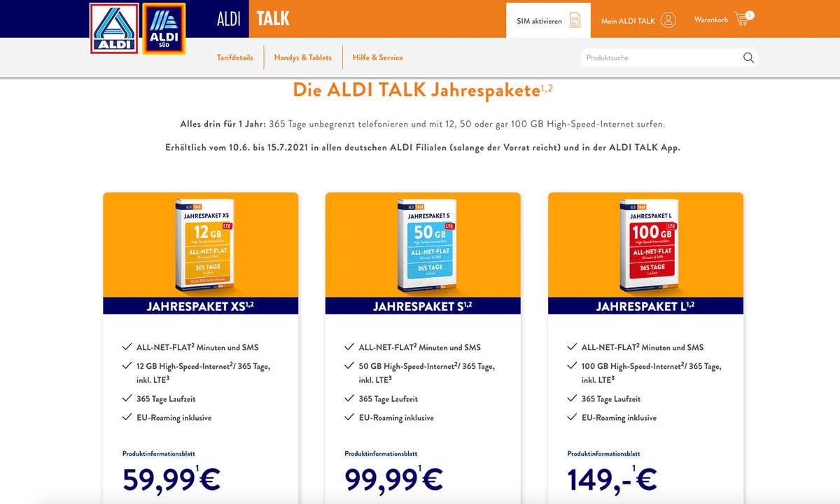 Aldi Talk Jahrespaket 2021