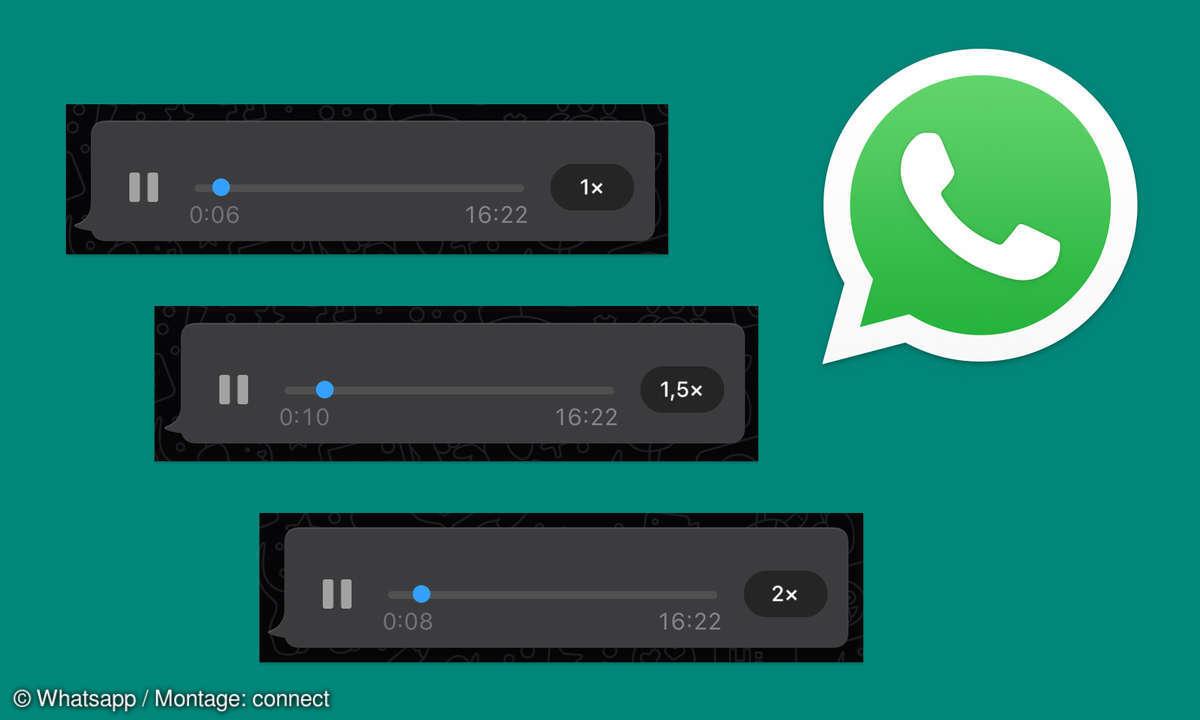 Whatsapp: Sprachnachrichten in doppelter Geschwindigkeit