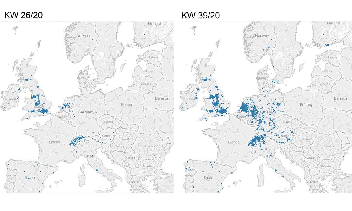 5G-Abdeckung Europa Karte 1