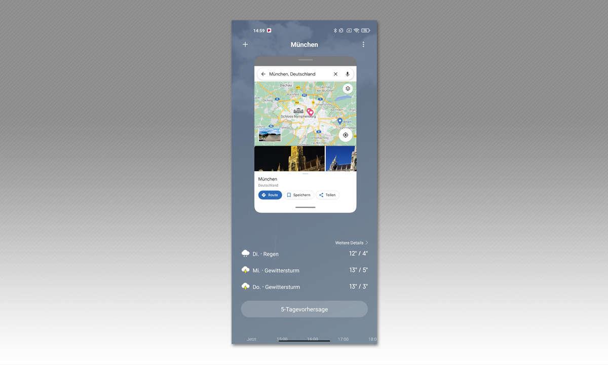 Xiaomi Mi 11 Ultra im Test: Screesnshot: Schwebendes Fenster