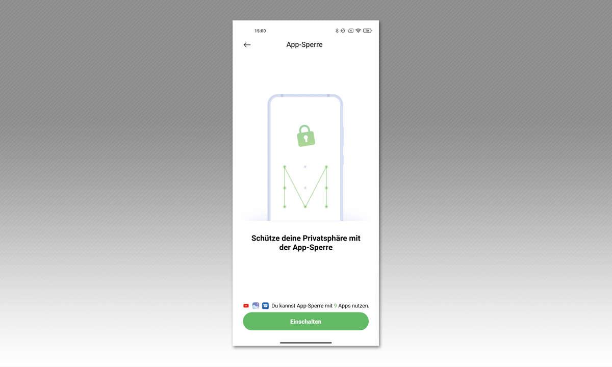Xiaomi Mi 11 Ultra im Test: Screesnshot: PIN