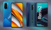 Xiaomi Poco F3 5G und Oppo Reno 2