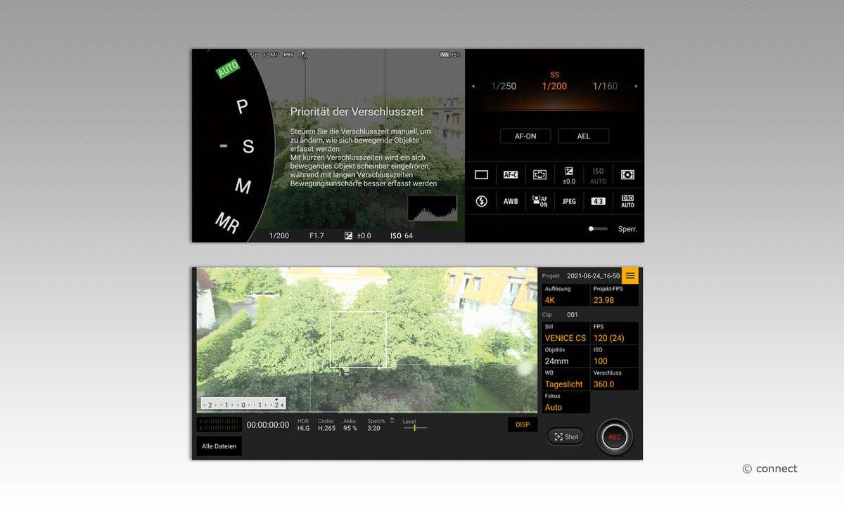 Sony Xperia 1 III Kamera-App