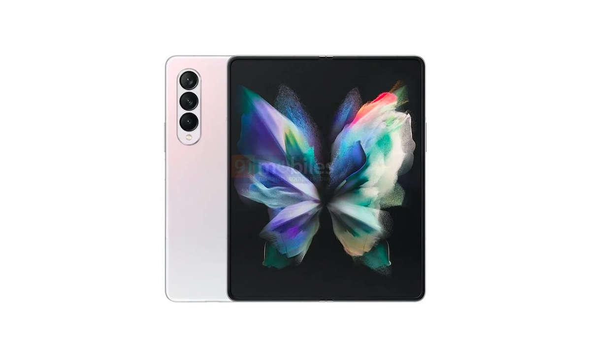 Samsung Galaxy Z Fold 3 in Rosa Leak von 91mobiles