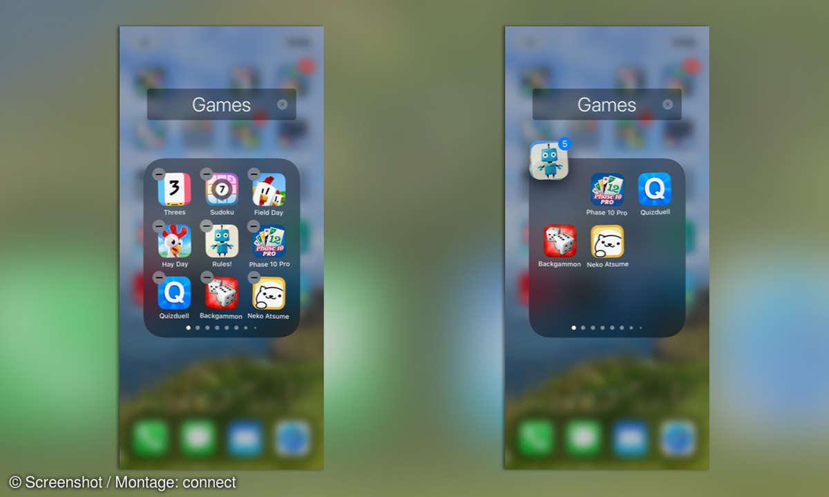 iOS Apps verschieben