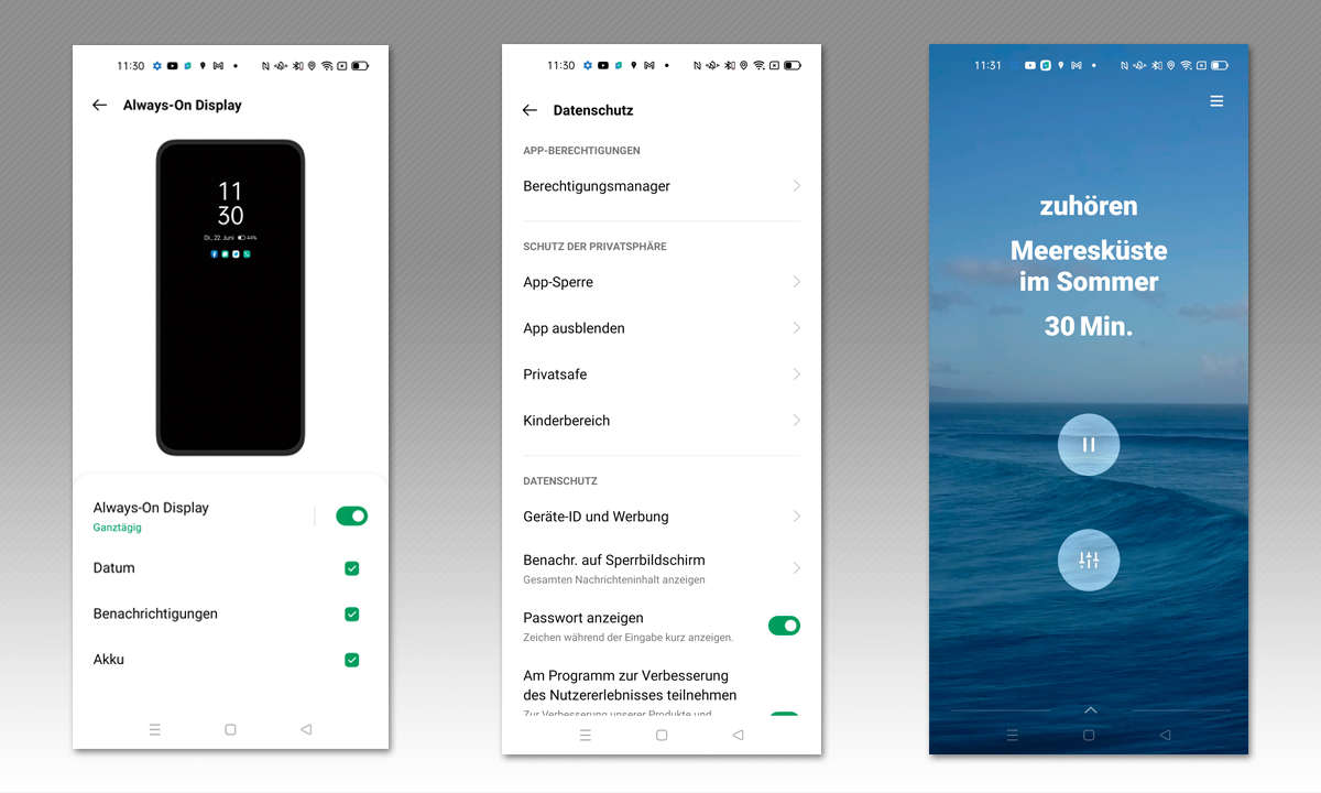 Oppo A94 5G im Test: Screenshots