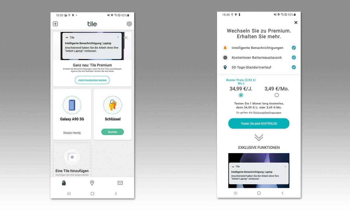 Bluetooth-Tracker: Tile Pro im Test - Screenshots