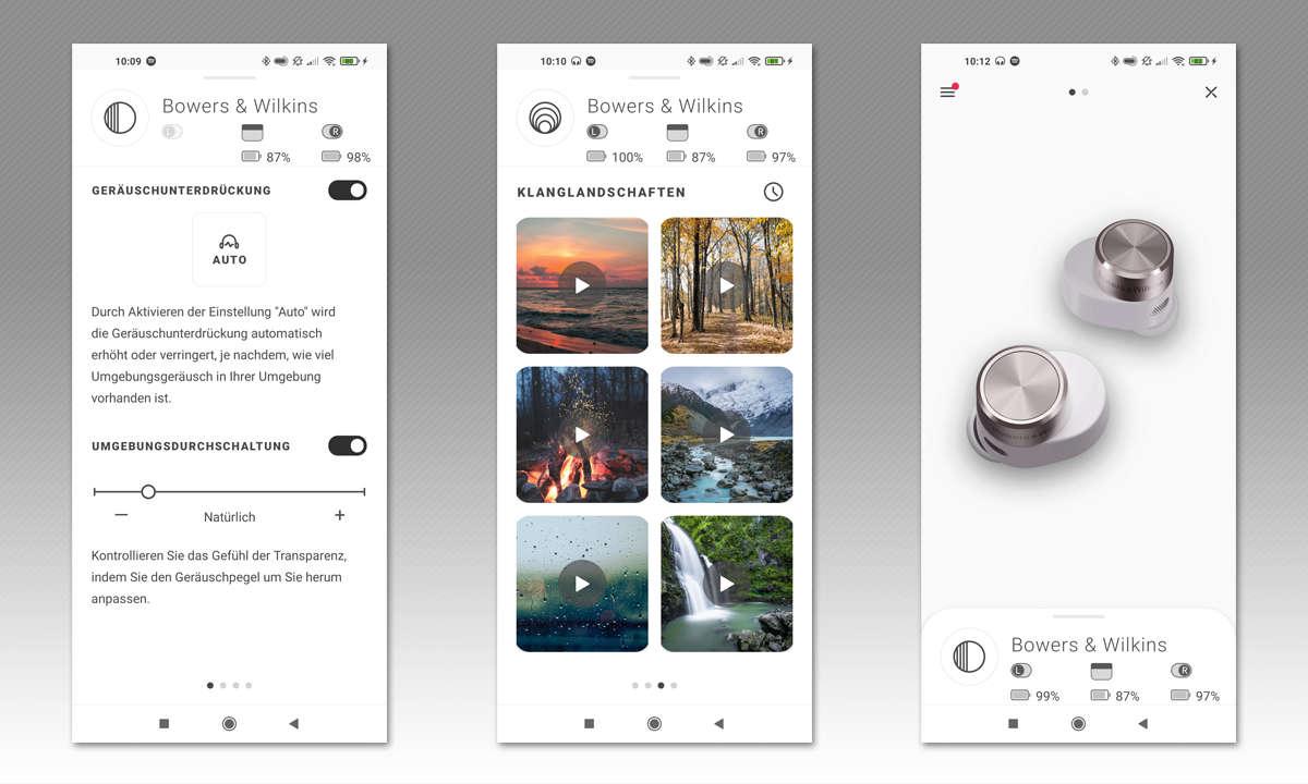 B&W PI7 im Test - Screenshots App