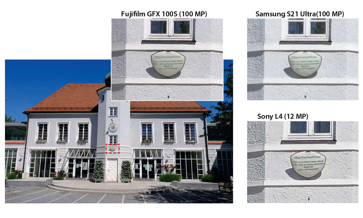 S21 Ultra vs. GFX 100s im 100-MP-Vergleich Haus
