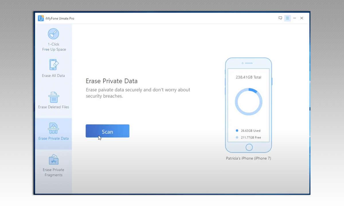 iMyFone Umate Pro iPhone Data Eraser