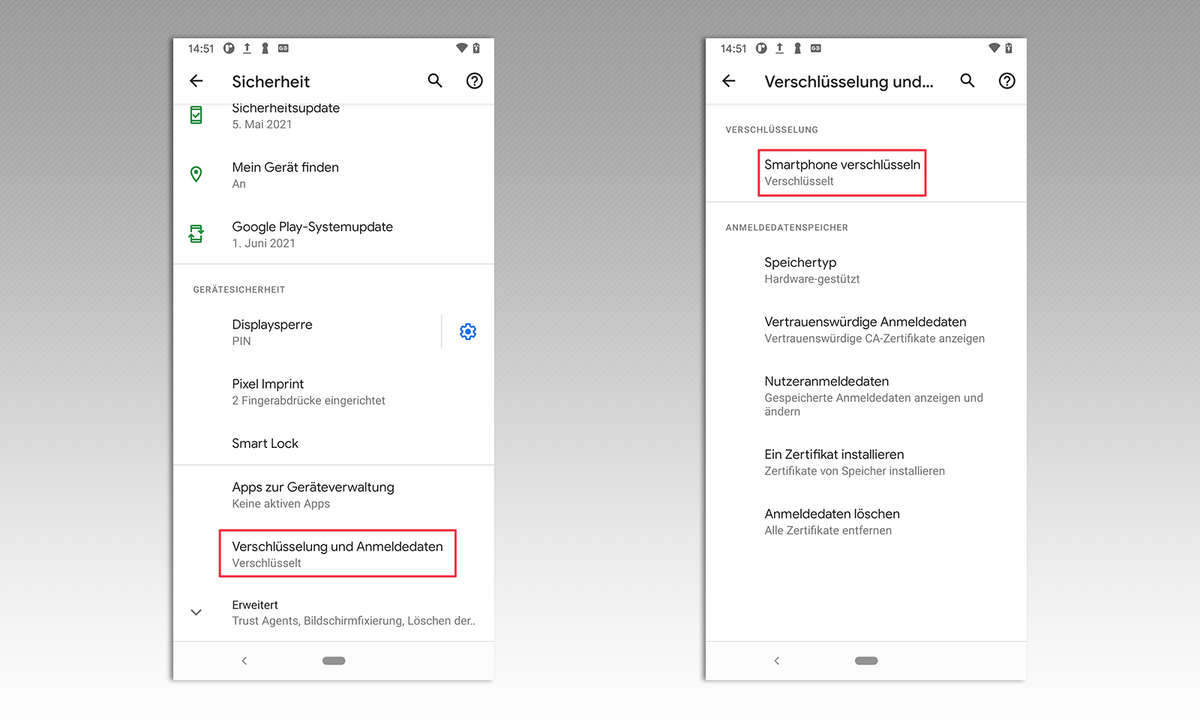 Android Verschlüsselung