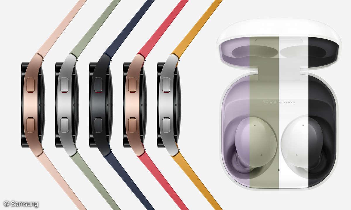 Samsung Galaxy Watch 4 Classic Buds 2 Farben
