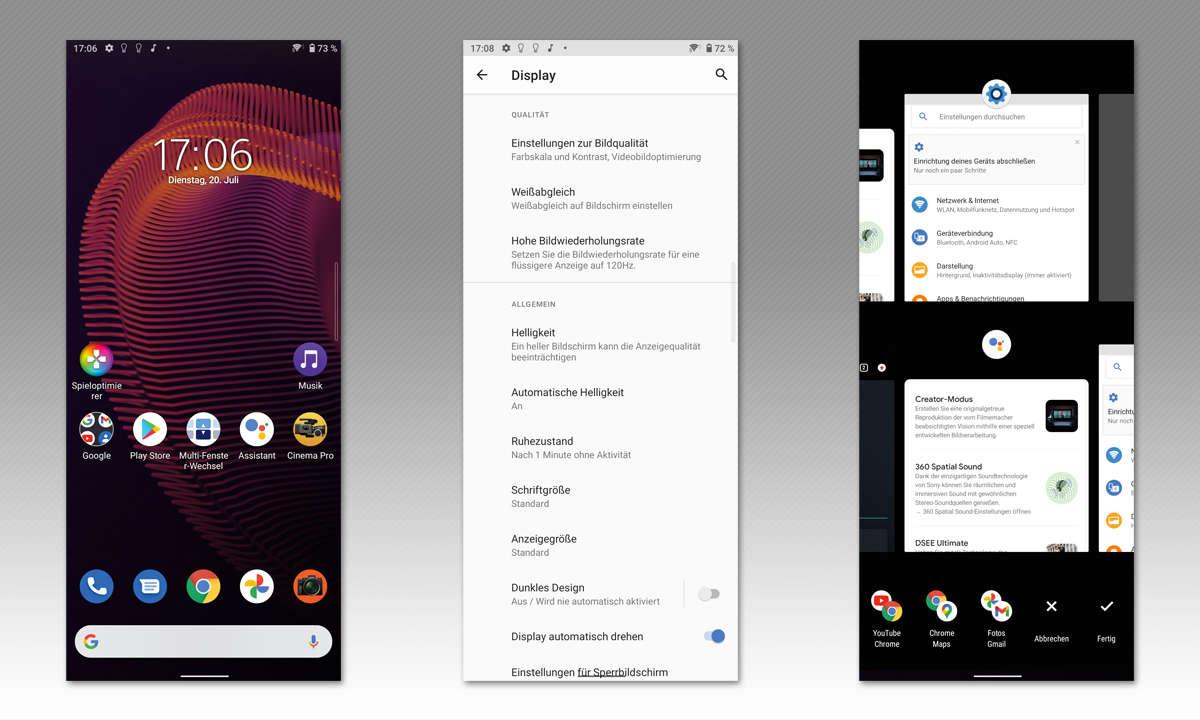 Sony Xperia 5III im Test: Screenshots