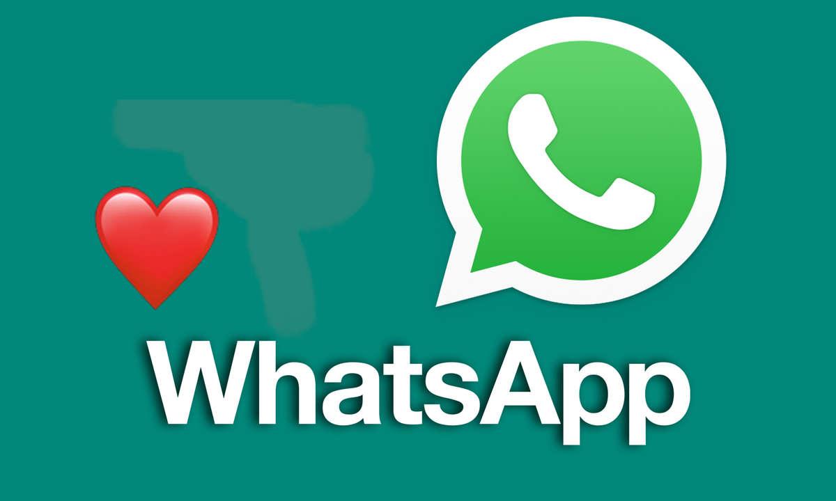 WhatsApp-Nachrichtenreaktion