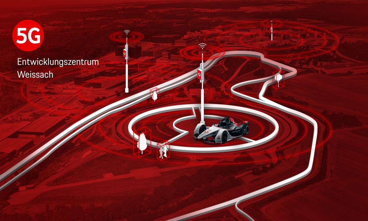 Vodafone und Porsche 5G-Standalone in Weissach