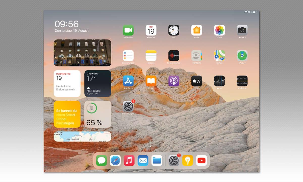 Apple iPad Pro 12,9 (2021) im Test: Screenshot