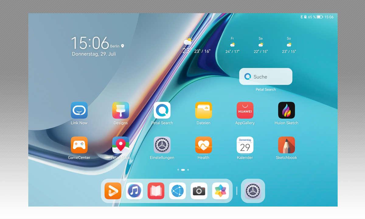 Huawei MatePad 11 im Test: Screenshot